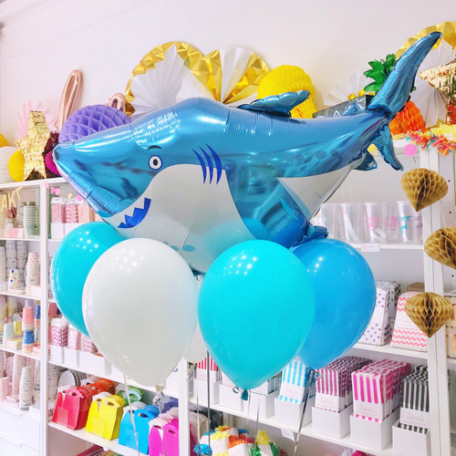 Shark Foil Helium Balloon for Childrens Birthday Parties and Under The Sea Celebrations