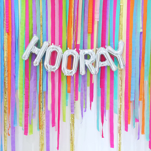 Colourful Rainbow Crepe Paper Streamer Backdrop Photo Booth for Parties and Weddings