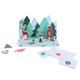 Paper forest animal Christmas advent calendar decoration