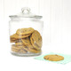 Glass cookie jar for home baked treats which you can use as stylish storage for items in your kitchen