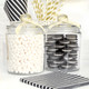 Glass sweets jar for party candy tables, wedding dessert buffets and storing treats in your kitchen
