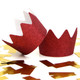 Red Glitter Party Crowns for childrens birthday parties