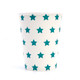 Blue star party cups for superhero birthday parties