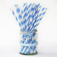 Blue Stripe Paper Party Straws