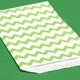 Green Chevron Print Paper Party Bags
