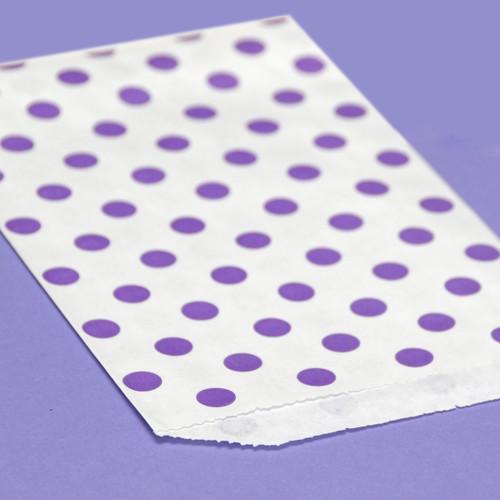 Purple Polka Dot Paper Party Bags