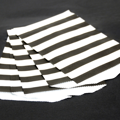 Black Stripe Paper Party Bags