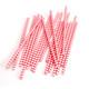 Red Chevron Print Paper Party Straws