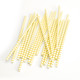 Yellow Chevron Print Paper Party Straws