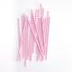 Modern Pink Chevron Print Paper Party Straws