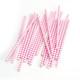 Stylish Pink Chevron Print Paper Party Straws