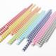 Modern Geometric Chevron Print Paper Party Straws