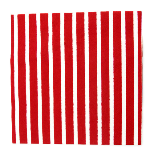Red Stripe Paper Party Napkins