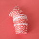 Red Polka Dot Party Serving Cups for ice cream, snacks, treats and nibbles