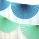 Teal Paper Fan Garland Bunting Decoration for Birthday Parties, Weddings, Baby Showers and Hen Dos