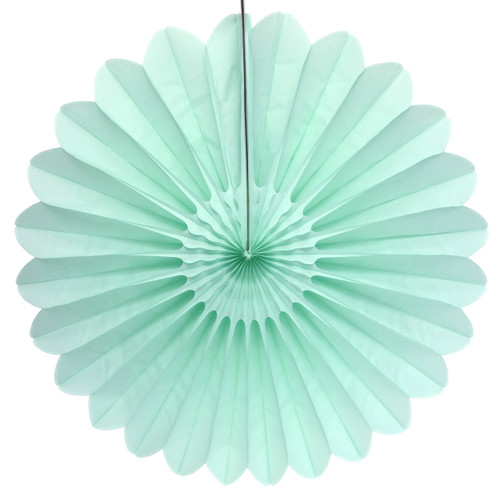 Mint Deluxe Tissue Paper Fan Decoration for Birthday Parties, Weddings, Baby Showers and Hen Dos