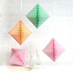 tissue paper diamond decoration for kids birthday parties, weddings, dessert table displays and hen dos.