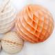Peach Tissue Paper Honeycomb Ball Pom Pom Decoration