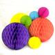 Rainbow Tissue Paper Honeycomb Ball Pom Pom Decorations