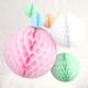 Pastel Tissue Paper Honeycomb Ball Pom Pom Decorations