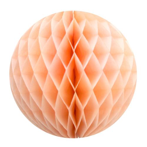 Peach Tissue Paper Honeycomb Ball Pom Pom Decoration for Weddings