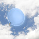 Big light blue balloon party decoration for birthdays, weddings, photo booth backdrops, anniversaries, baby showers, hen parties.