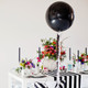 Big black large balloon party decoration for birthdays, weddings, photo booth backdrops, anniversaries, baby showers, hen parties