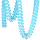 Turquoise Tissue Paper Garland Decoration for Birthday Parties, Weddings, Baby Showers and Hen Parties