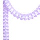 Lavender Tissue Paper Garland Decoration for Birthday Parties, Weddings, Baby Showers and Hen Parties