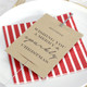 Personalised Christmas Place Setting Sparkler Sleeve