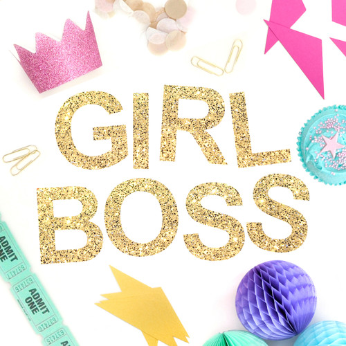 Girl Boss Glitter Garland in Gold and Silver