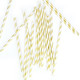 Metallic Gold Stripe Paper Straws for Weddings, Birthdays, Hen Parties and Baby Showers.