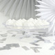 Stylish and elegant clear cake stand for parties, weddings and dessert tables