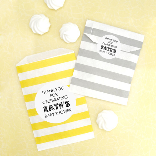 Personalised Baby Shower Stickers for Party Gifts and Favours