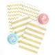 Gold Stripe Paper Party Bags for Wedding Favours and Goody Bags