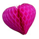 Beautiful dark pink paper heart decoration for weddings and hen parties