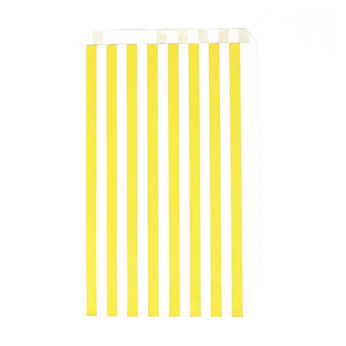 Premium quality and stylish yellow stripe paper party bags for childrens birthdays, wedding favours, sweet tables and hen parties
