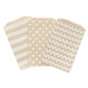 Polka Dot, chevron and striped Kraft Brown Paper Bags for wedding favours, birthday party gifts and craft projects