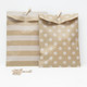 Patterned Kraft Brown Paper Bags for wedding favours, birthday party gifts and craft projects