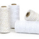 Shimmery metallic glitter twine bakers twine for wedding favours, craft projects and gift wrap