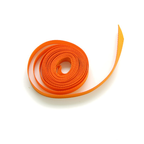 Orange luxury grosgrain ribbon for wedding favours, craft projects and gift wrap