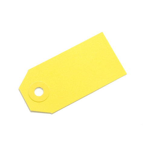 Yellow gift tags for wedding favours, place settings, birthday party gifts, present labels
