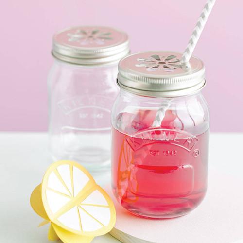 Glass kilner jars for summer cocktails, rustic wedding decoration or for smoothies