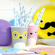 Fun noodoll paper party cups for kids birthday parties, summer celebrations and other fun occasions.