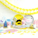 Fun noodoll paper party set for kids birthday parties, summer celebrations and other fun occasions.