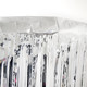 Silver metallic curtain for photo booth backdrops, wedding receptions and gatsby themed birthday parties