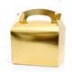 Gold food treat box for birthday party snacks, picnics, goodie bags, gifts and street food.