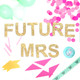 Future Mrs metallic glitter garland available in gold or silver for weddings, dessert tables or birthday parties