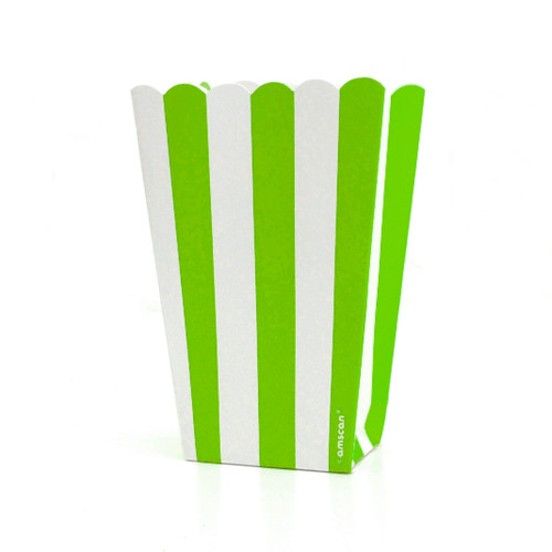 Green stripe popcorn boxes for carnival parties, circus wedding themes, popcorn birthday parties, movie nights or hen dos