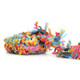 Rainbow Party fringe festooning for balloon tails, party garlands and wedding table decorations